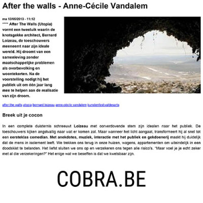 After the walls - Anne-Cécile Vandalem